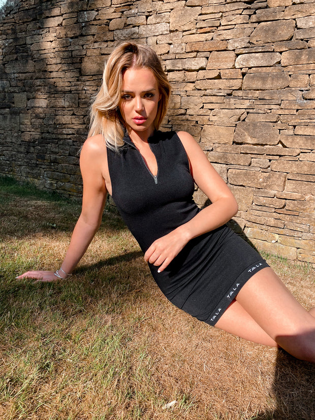 ZEST FITTED DRESS - BLACK