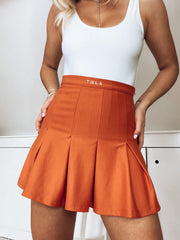 FUSE TENNIS SKIRT - BURNT ORANGE
