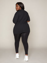 Load image into Gallery viewer, LUNA LEGGING - BLACK WITH WHITE BRANDING