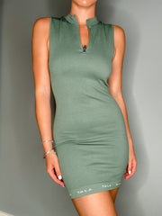 ZEST FITTED DRESS - KHAKI