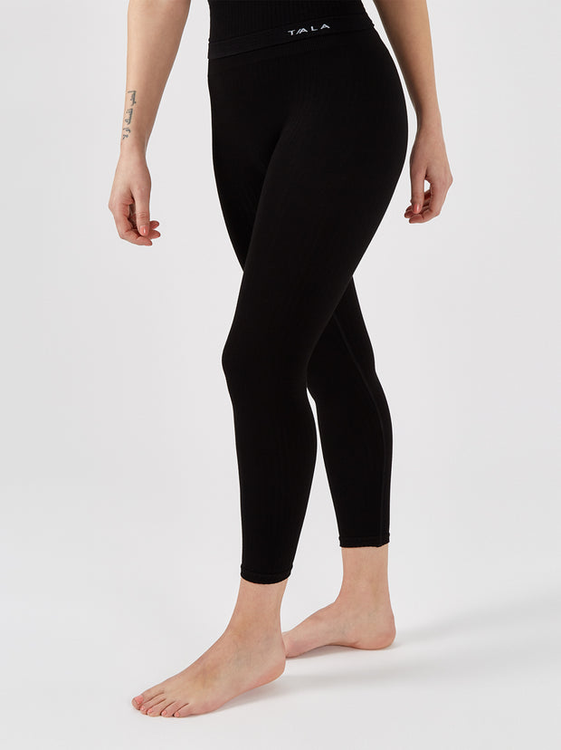 NAVA RIBBED LEGGING - BLACK