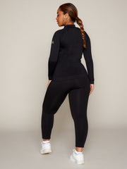 LUNA LEGGING - BLACK WITH NEON BRANDING