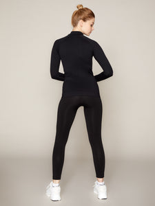 THE LUNA LEGGING - BLACK WITH GREY BRANDING