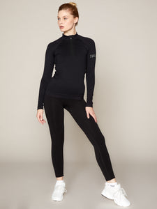 LUNA LEGGING - BLACK WITH GREY BRANDING