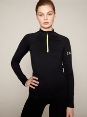 ONDA ZIP TOP - BLACK WITH NEON BRANDING