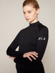 ONDA ZIP TOP - BLACK WITH WHITE BRANDING