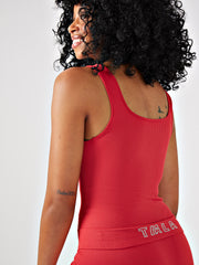 VINA RIBBED TANK TOP - RHUBARB RED