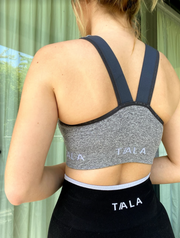 IXIA ZIP SUPPORT BRA - GREY MARL