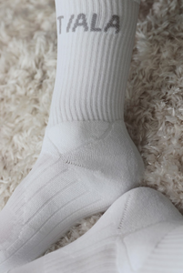 REGULAR SOCK, WHITE WITH MIXED BRANDING, TRIPLE PACK