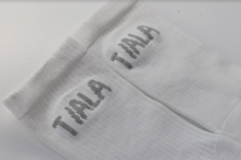Load image into Gallery viewer, REGULAR SOCK, WHITE WITH MULTI-COLOURED BRANDING, TRIPLE PACK