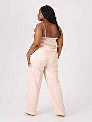SHIARA DRAWSTRING PYJAMA TROUSERS - BLUSH