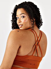 SKINLUXE™ TANK SPORTS BRA - COPPER