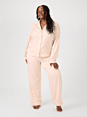 SONDA LONG SLEEVE PYJAMA SHIRT - BLUSH