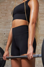 SKINLUXE™ SHORTS - SHADOW BLACK
