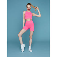 Load image into Gallery viewer, THE MINA BRA - NEON PINK (GREY BRANDING)