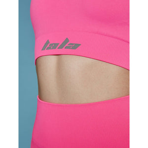 THE MINA BRA - NEON PINK (GREY BRANDING)