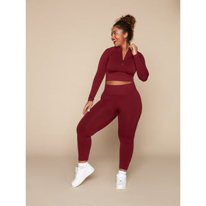 THE ZINNIA LEGGING - BURGUNDY