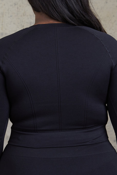 LUCID LONG SLEEVE TOP - ONYX