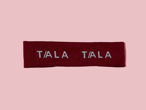 WIDE HEADBAND - BURGUNDY