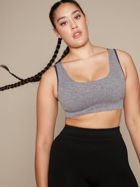 AYLA SUPPORT BRA - GREY MARL