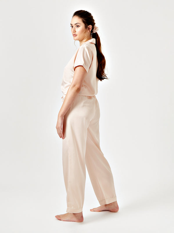 SUNIE SHORT SLEEVE PYJAMA SHIRT - BLUSH
