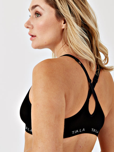 ZORA CROSS-BACK BRA - BLACK