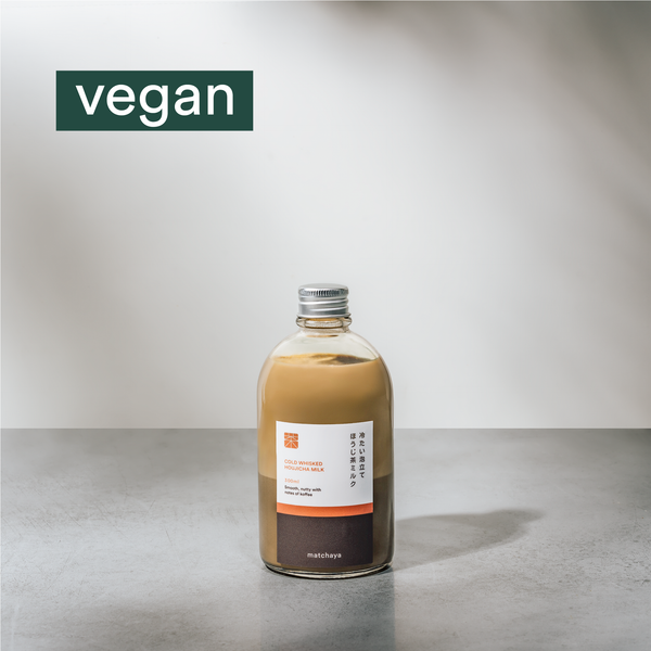 Vegan Cold Whisked Houjicha Milk - Matchaya: Progressive Tea Bar