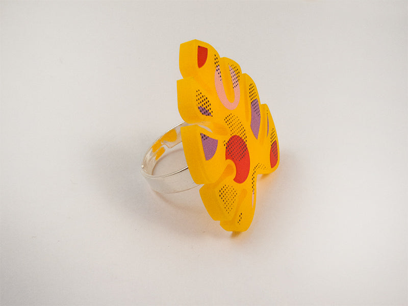 Anillo Ring Monstera Colorful Multicolor