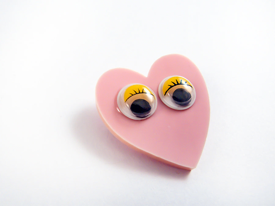 Broche Googly Eyes Heart