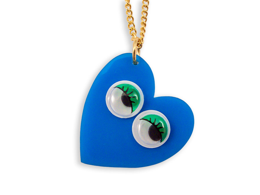 Collar Googly Eyes Heart Retro Vintage