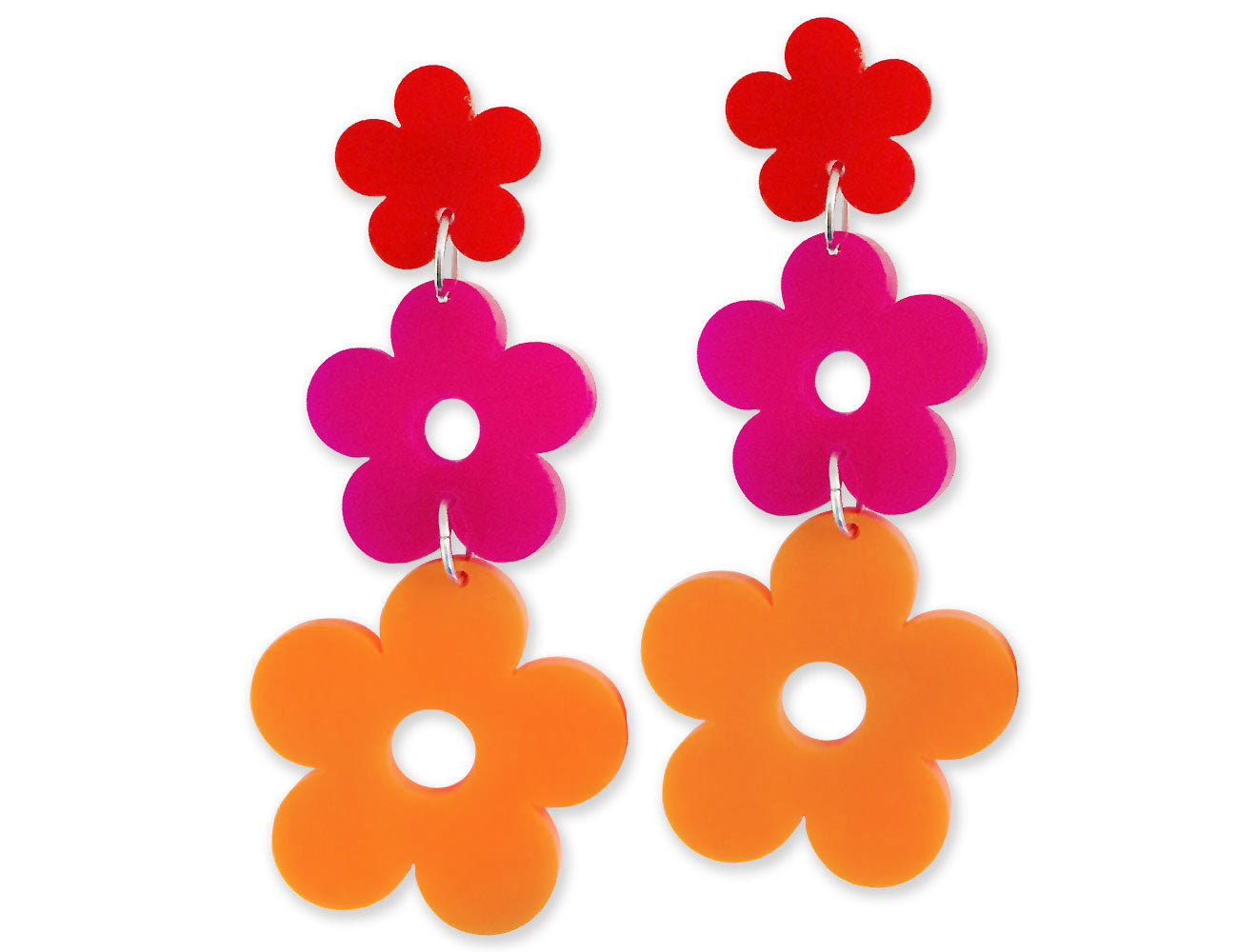 Flower Power Earrings 60's Mod