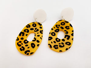 Pendientes Leopardo amarillo Now or Never