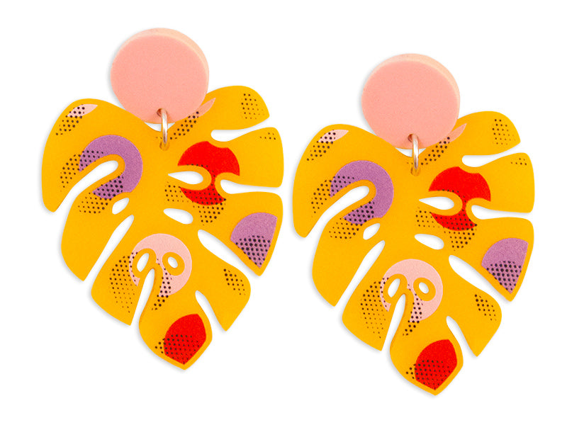 Pendientes Monstera Earrings