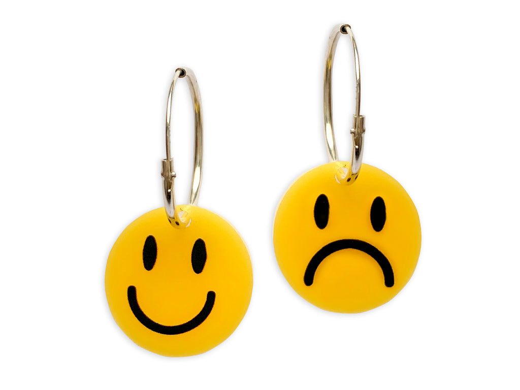 Pendientes Reversibles Smiley