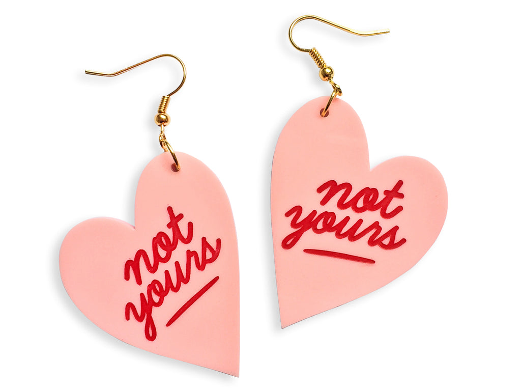 Pendientes Not Your Valentine