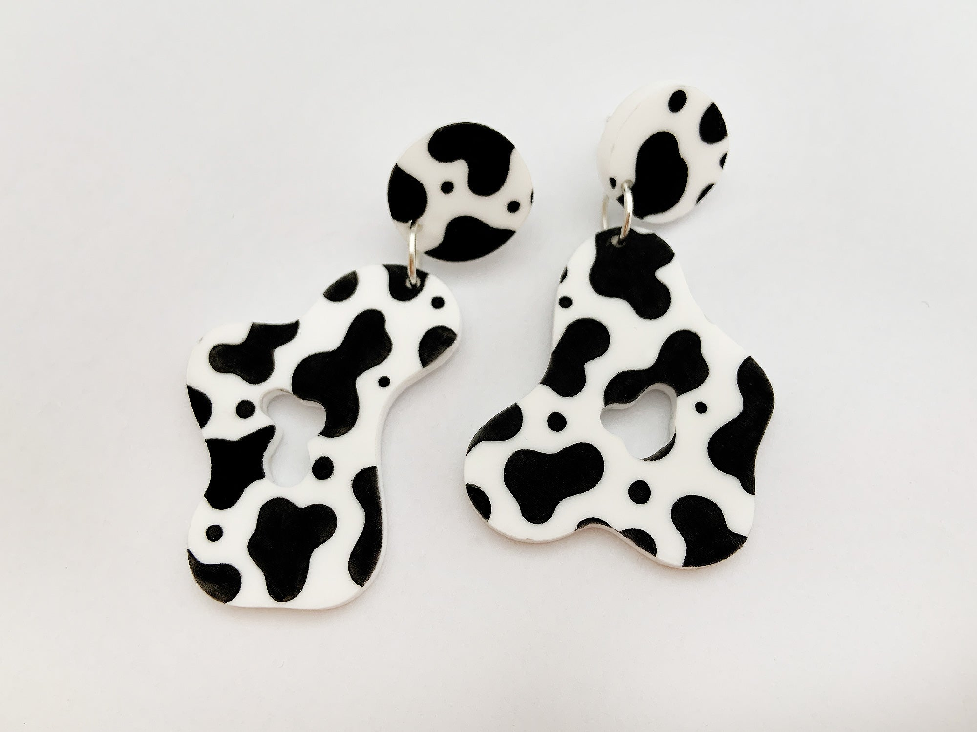 Pendientes Milky Cow Animal Print