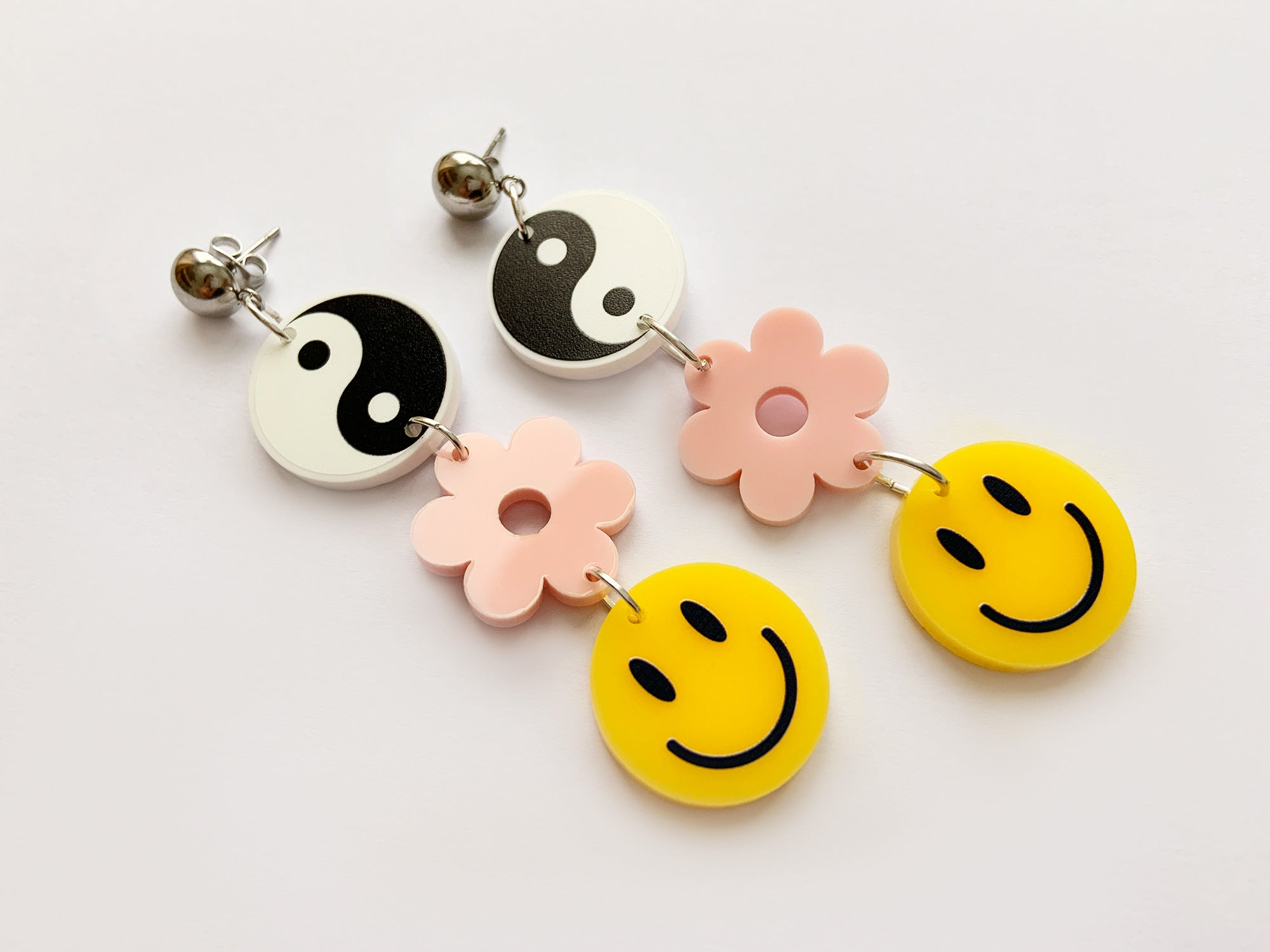 Pendientes Smiley Yin Yang Zen Now or Never