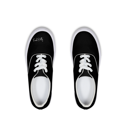 Funk Betty's Black Wall  of Fame Edition Lace Up Canvas Shoe