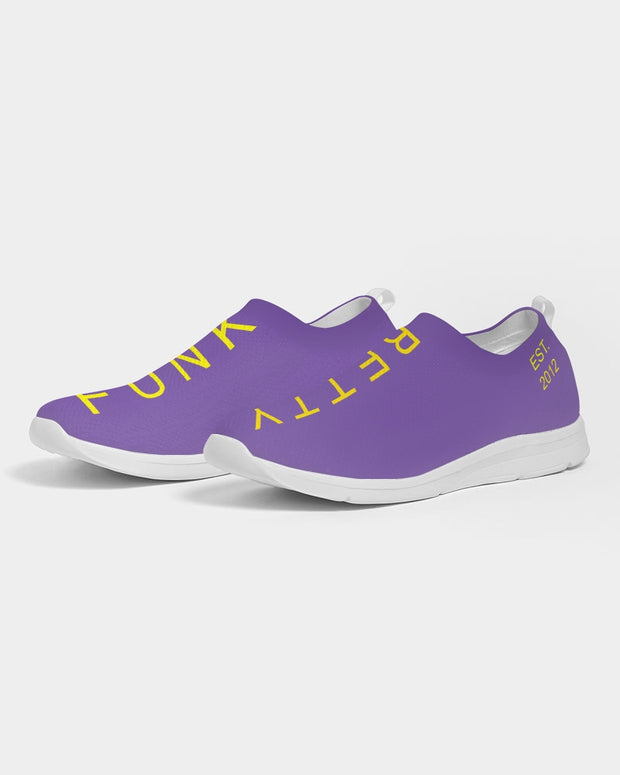 Funk Betty's Wall Of Fame Royal Purple Edition Women's Slip-On Flyknit Shoe