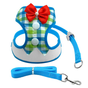Dog Harness With Bow Tie