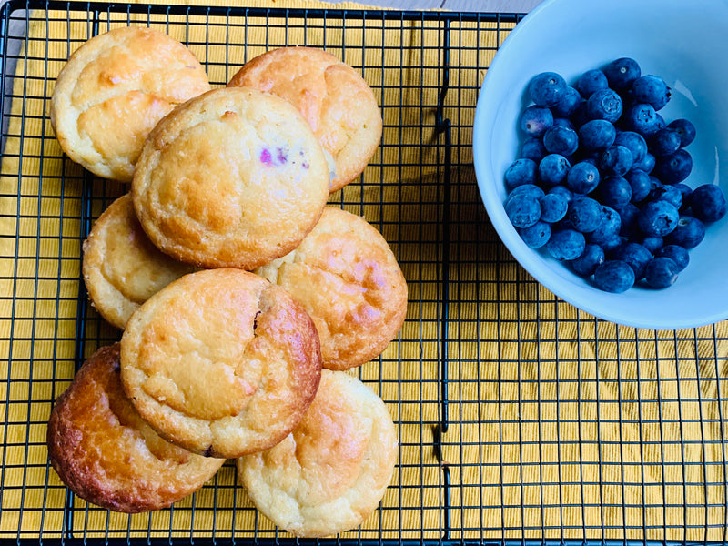 Kwark, blueberries & lemon zest muffins
