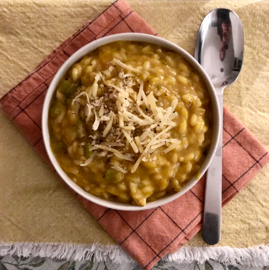 RISOTTO WITH SHALLOTS, PUMPKIN AND PECORINO CHEESE (X2)