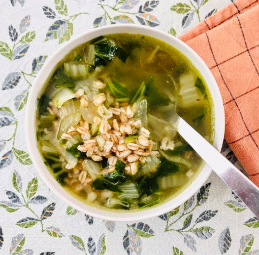 SPELT SOUP WITH PAK CHOI (X2)