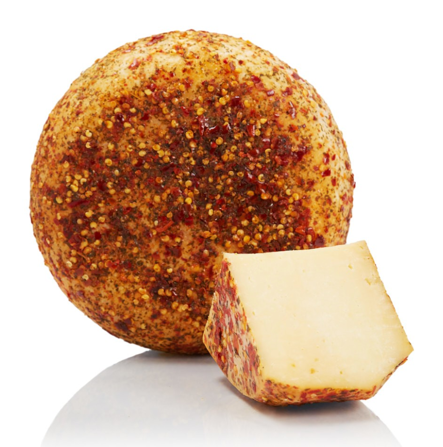 Spiced Pecorino - cured 3 months (Tuscany)