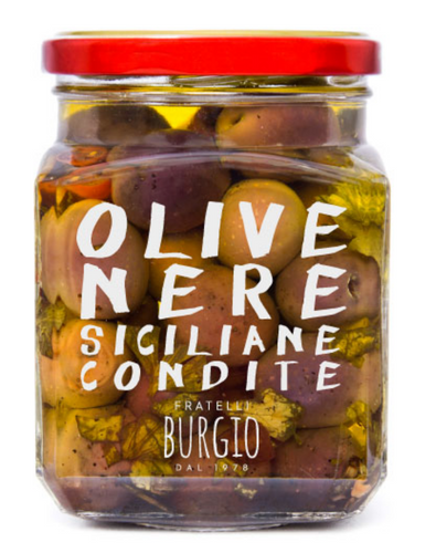 Black Sicilian Seasoned Olives