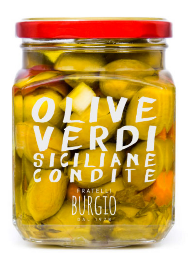 Green Sicilian Seasoned olives