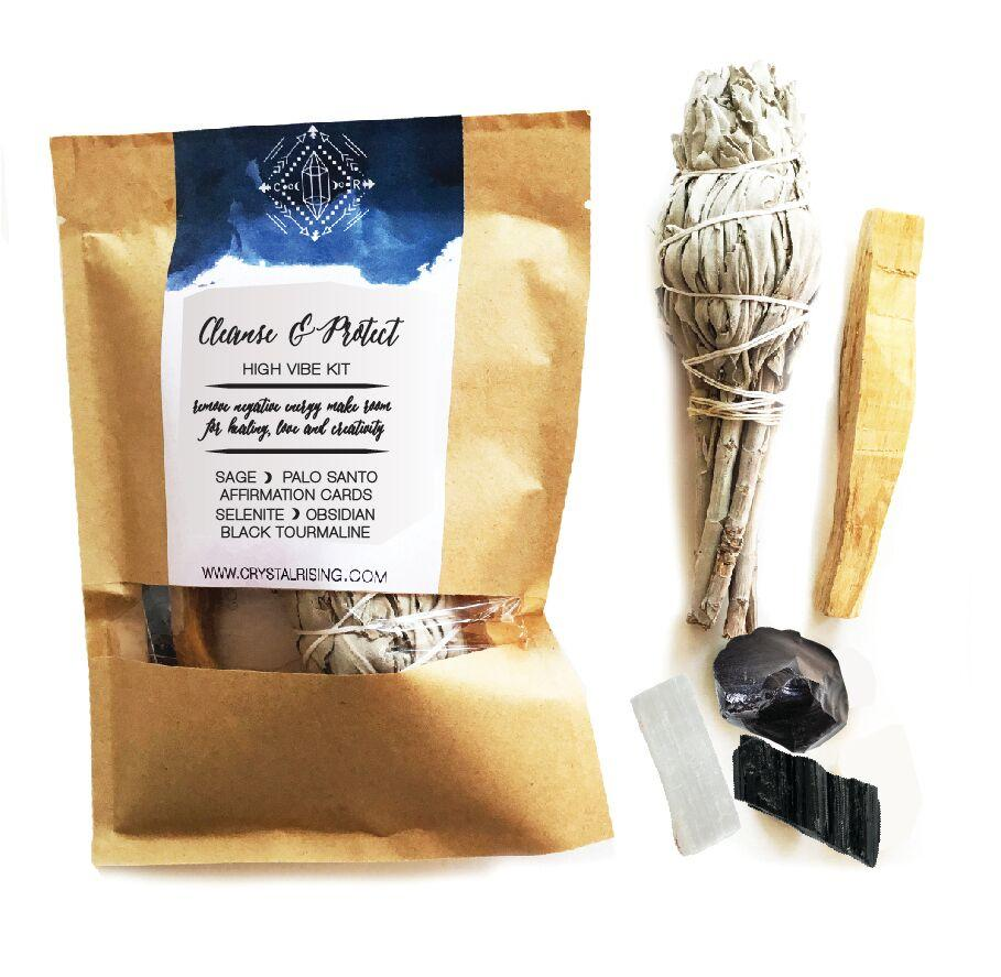 Crystal Rising - Cleanse and Protect Ritual Kit