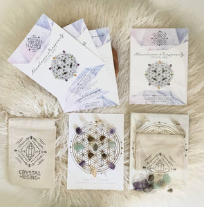 Crystal Rising - Mini Crystal Grid Ritual Kit
