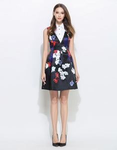Comino Couture White Collar Floral Sleeveless Dress *WAS £95*