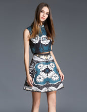 Load image into Gallery viewer, Comino Couture Printed Mini Skirt *WAS £55*